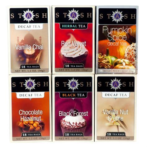 amazon com stash tea decaf chocolate hazelnut tea 18 count tea bags in foil pack of 6