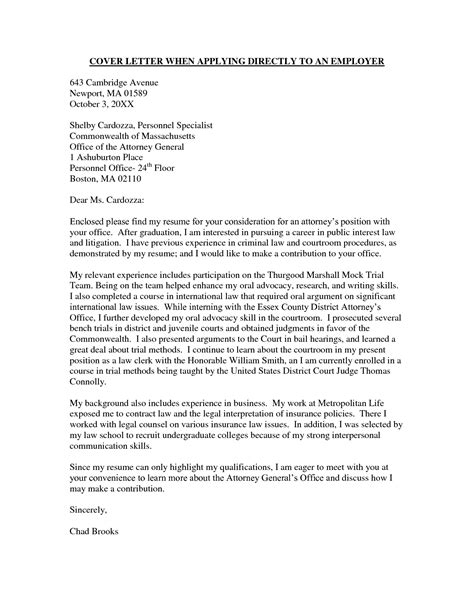 Cover Letter Junior Counsel How To Write A District Attorney Letter Sle Recentresumes