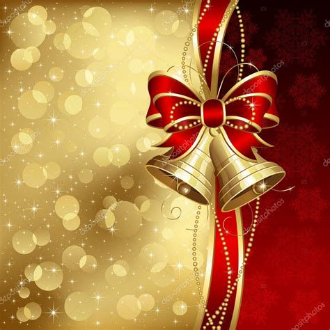 wallpaper christmas elegant elegant christmas background with golden bells stock