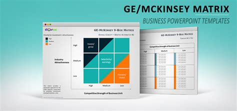 Ge Mckinsey Matrix For Powerpoint Mckinsey Diagram