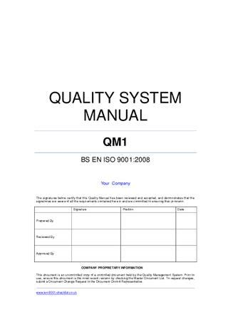 Quality Manual Template Exle By Iso 9001 Checklist Issuu Sharepoint Iso 9001 Template