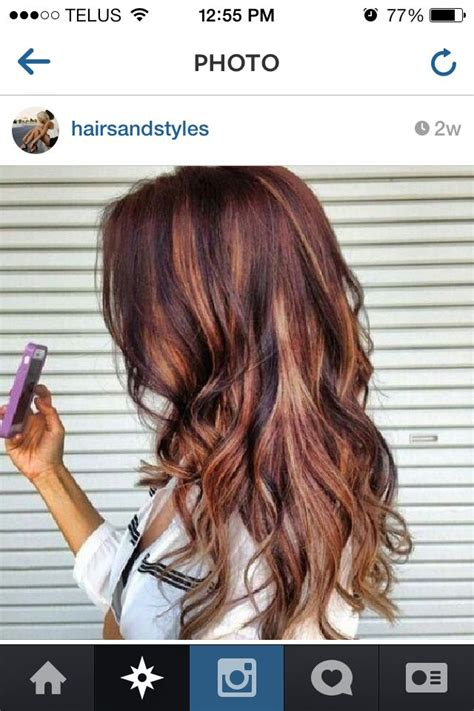are deep chestnut brown and dark chocolate a similar hair color deep auburn with chestnut brown and dark honey highlights