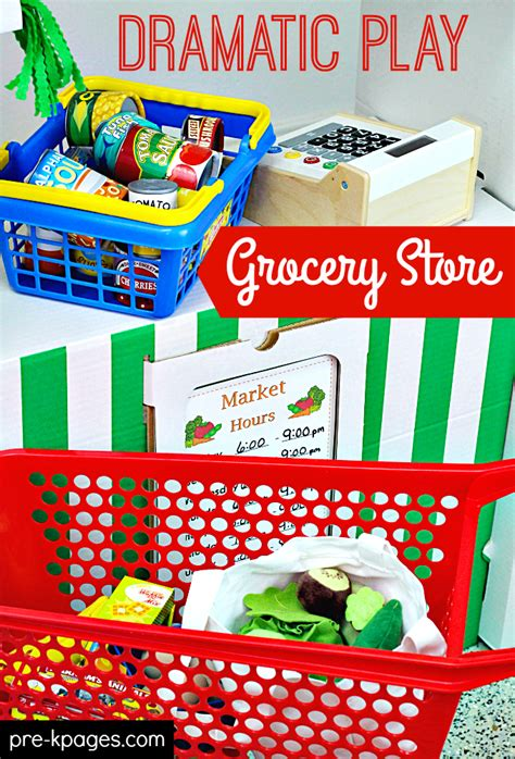 Play Store Like Template Grocery Store Dramatic Play Center