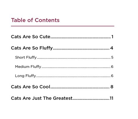 table of contents template indesign a table of contents with indesign annenberg