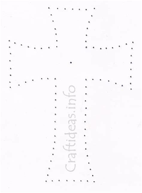 american cross card template stitched cross template for a sympathy card