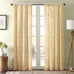 Yellow White Curtains Buy Yellow Panel Curtains From Bed Bath Beyond