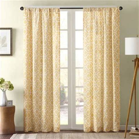 Yellow And Grey Window Curtains Buy Yellow Panel Curtains From Bed Bath Beyond