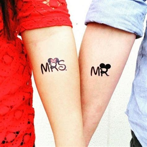 40 so mr and mrs tattoos for couples