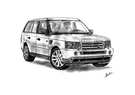 range rover drawing range rover sport by shaksam on deviantart