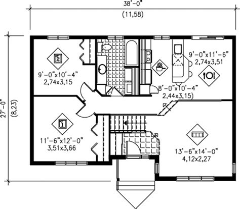 950 sq ft house plans traditional style house plan 2 beds 1 baths 950 sq ft plan 25 1024