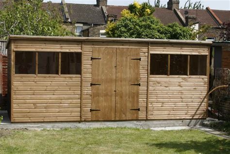 Uk Shed by Bespoke 18 X 8 Pent Garden Shed With Doors By Sheds