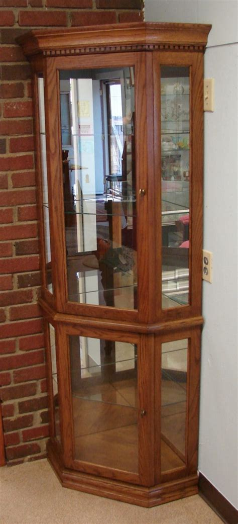 corner curio cabinets with glass doors wonderful antique corner curio cabinets with antique brass