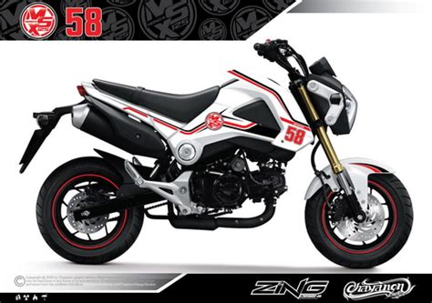 Sticker Honda Msx by Honda Grom Msx 125 Rip Sic Sticker Graphics Kit