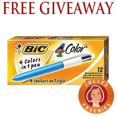 Pen Giveaway - free bic 4 color pen giveaway julie s freebies