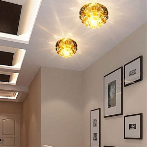 aliexpress com buy home led 3w hall light walkway porch modern home crystal chandelier lshade led hallway