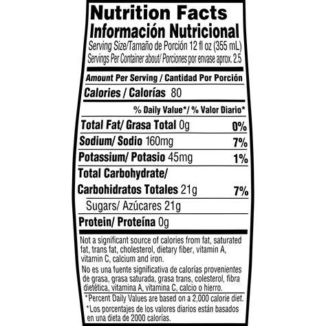 Gatorade Nutrition Facts 8 Oz - Nutrition Ftempo Nutrition Menu Panda Express