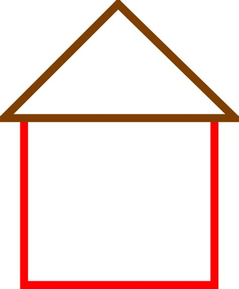 house outline red house outline clipart clipartsgram com