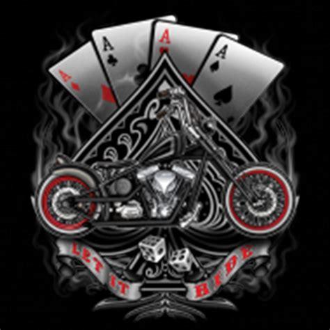 design t shirt bikers biker t shirt custom design let it ride chopper 4 aces