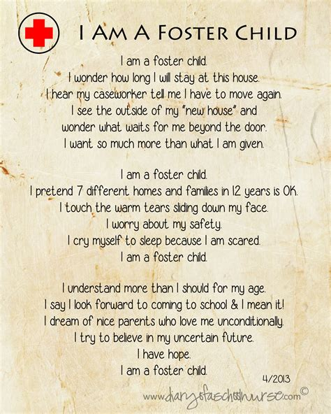 Im For Children by Diary Of A School I Am A Foster Child