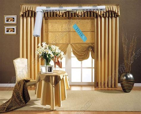 home automation remote motorized curtain mj