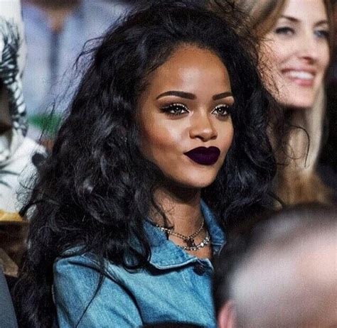 Denim Days Home Interior by Make Up Dark Purple Lipstick Lipstick Blouse Rihanna
