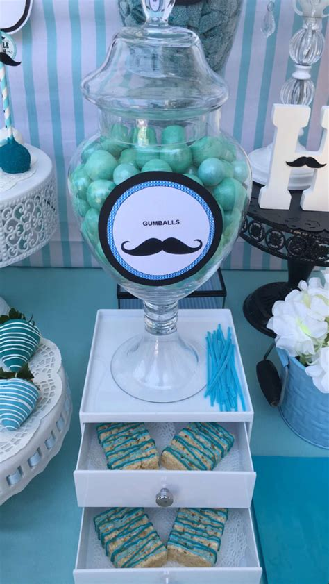 Mustache Themed Baby Shower Supplies by Mustache Baby Shower Baby Shower Ideas Photo 9 Of