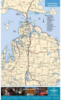 Northern Michigan Map maps of northern michigan