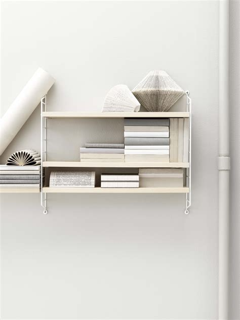 String Pocket Shelf by String Pocket Shelf White Ash Shelves By String Furniture