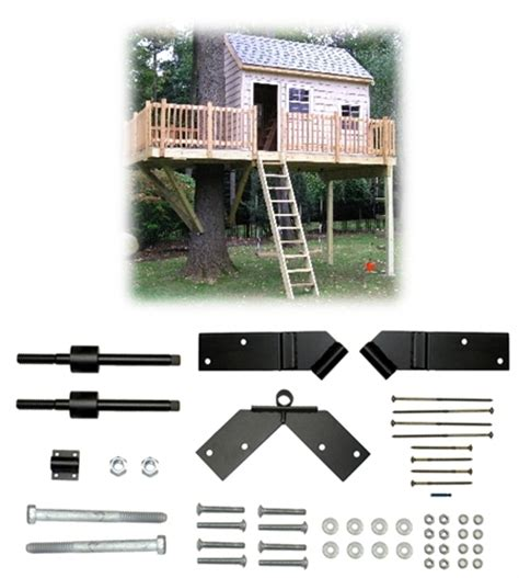 tree house kits one tree 2 post 12 x14 treehouse kit tab treehouse bolts hardware