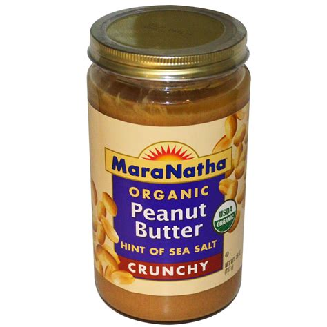 Organic Crunchy Peanut Butter maranatha organic peanut butter crunchy 26 oz 737 g