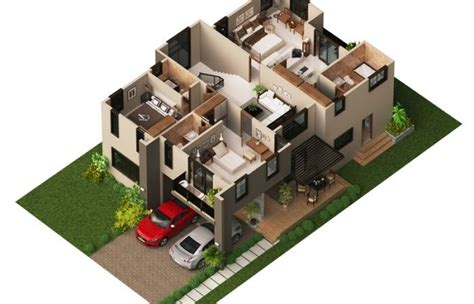 modern home design plans 3d modern house plan 2014002 pinoy house plans 3d floor