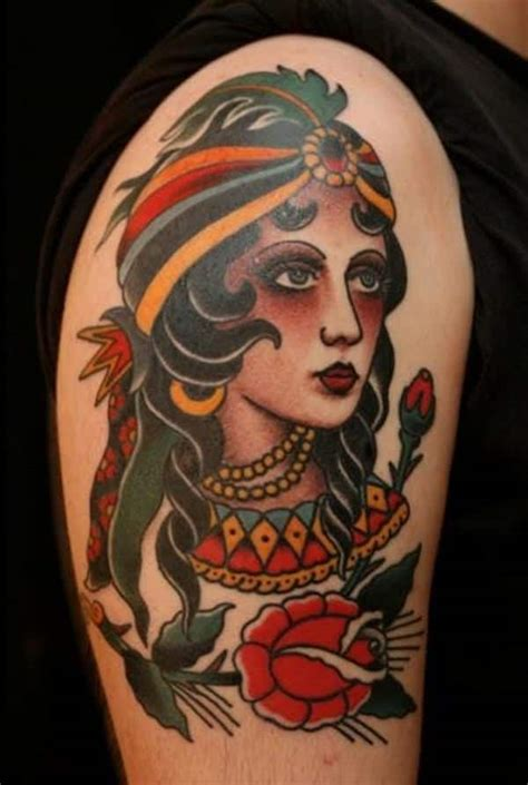 tattoo old school zingara significato 55 beautiful gypsy tattoos for those forever wandering