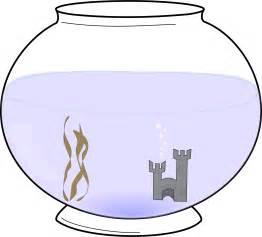 blank fish bowl coloring clipart