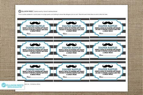 Free Printable Diaper Raffle Tickets Mustache | little man mustache baby shower diaper raffle ticket