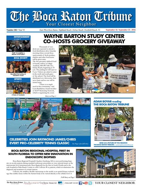 Wayne Barton Food Giveaway - the boca raton tribune ed 283 by the boca raton tribune issuu