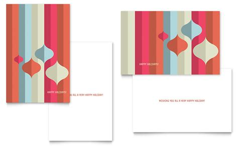 microsoft greeting card templates modern ornaments greeting card template word publisher