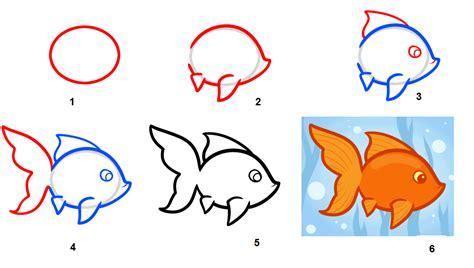 tutorial gambar hewan resourceful parenting menggambar ikan mas koki langkah
