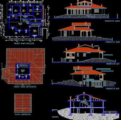 villa residential dwg plan  autocad designs cad