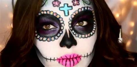 tutorial di makeup per halloween trucchi per un look il teschio messicano 232 il trucco di tendenza per halloween