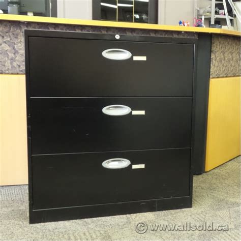 steelcase turnstone black 3 drawer lateral file cabinet
