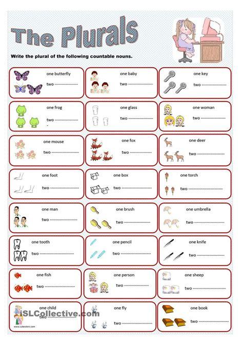 Irregular Plurals Worksheet by The Plurals Plural Gor Plural Nouns