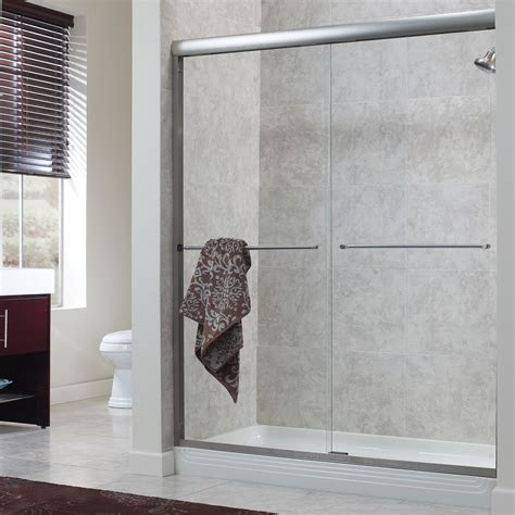 Sliding Shower Doors Cove 1 4 Frameless Sliding Shower Doors Foremost Bath