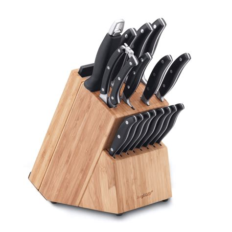 kitchen knives block 20 piece knife block forged studio official berghoff