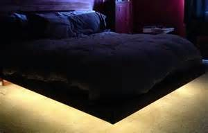 How To Build A Headboard how to build a diy floating bed frame with led lighting