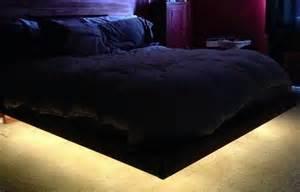 Bed Frame Lights How To Build A Diy Floating Bed Frame With Led Lighting