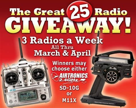 Radio Giveaway - hobby people 25 radio giveaway 171 big squid rc rc car and truck news reviews