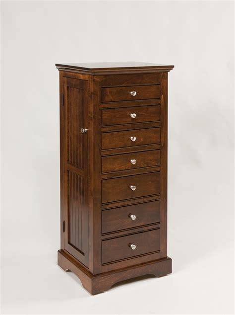 amish oak jewelry armoire 48 quot deluxe beaded jewelry armoire amish valley products