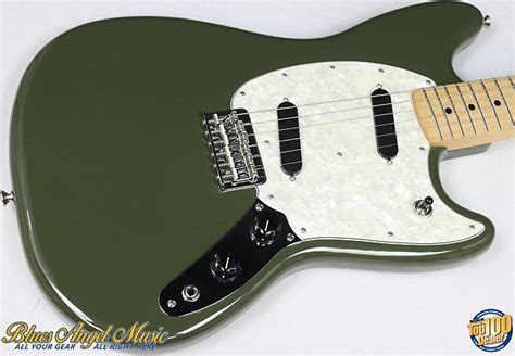 fender mustang scale fender mustang offset scale electric guitar olive