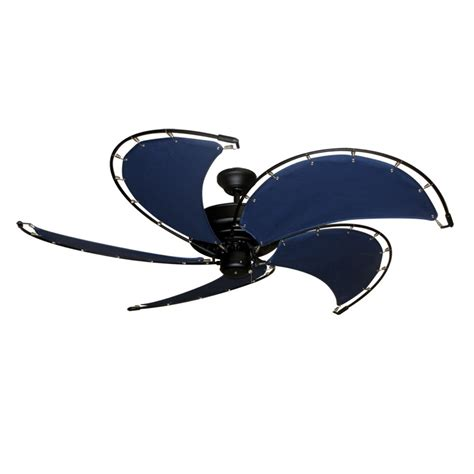 Ceiling Fan Nautical gulf coast nautical raindance ceiling fan matte black motor sail cloth blades