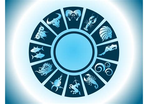 zodiac circle vector   vector art stock